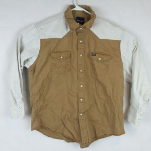 Vintage Wrangler Snap Button Western Country Shirt